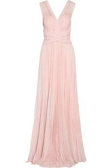 J Mendel Pleated chiffon gown | NET-A-PORTER