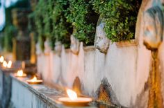 I love oil lamps!! Oil lamps everywhere, especially near water features.