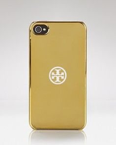 Tory Burch iPhone Case - Gold Hardshell- Love it #toryburch Iphone case.
