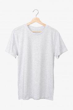 Basic grey t-shirt on a hanger Premium P. Mockup Camisa, Basic Grey, Vector Photo, Grey Shirt, T Shirt, Free Photos, Everyday Fashion, Hanger, Mens Tops