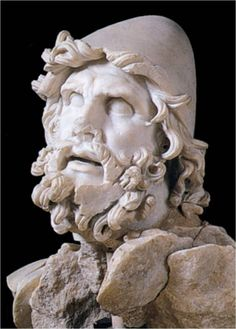 Sperlonga head of odysseus Sculpture marble 26 AD (destruction) Head of Odysseus