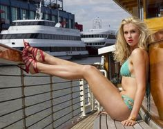Ireland Baldwin models a Anna Kosturova swimsuit and Manolo Blahnik heels Bikini Beach, Hot Bikini, Celebrity Daughters, Ireland Baldwin, Kim Basinger, Img Models, Hottest Photos, Sexy Legs, Celebrity Photos