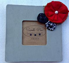 CUSTOM Square Frame with Rosettes by SweetPeaCustomDecor on Etsy