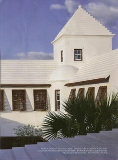 Alys beach. White stucco. White roof.
