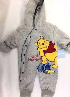 "Disney Unisex Gray Bunting Winter Outerwear Baby Size 3-6 Months ""Got Honey"" NWT #Disney #Everyday"