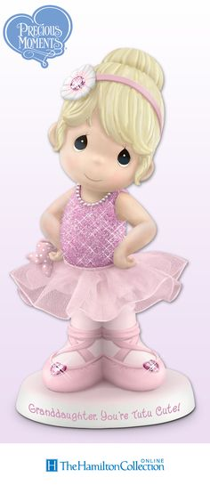 "This Precious Moments ballerina figurine is ""tutu"" cute! What a sweet granddaughter gift!"