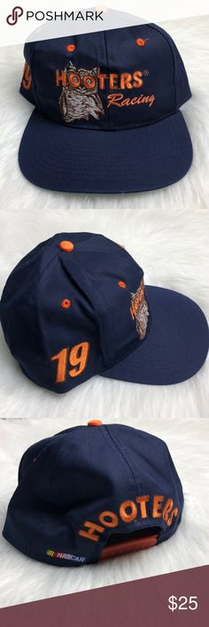 Nascar Hooters Racing #19 baseball cap One size By checkered flag Hooters racing nascar hat #19 Checkered Flag Accessories Hats