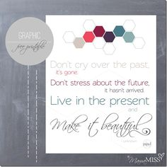 Live in the present free printable #freeprintable