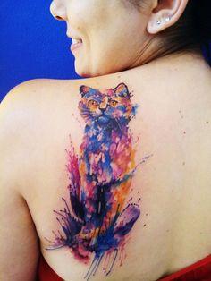 Livres #watercolortattoo #tattoogirl #tatuagensfemininas #gatoemaquarela #gato #cat #aquarela #artenapele #tatuagem #tattoo #felino #coisasdemeninas #cores #paixao #artederobertonascimento
