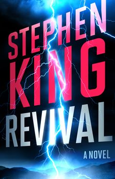 What's almost more exciting than a new novel by Stephen King? Having it on Bookshare the day it is published! Here's the book cover of Revival by Stephen King,  featuring a lightning bolt in a dark sky over mountains. Available to Bookshare members at https://www.bookshare.org/browse/book/942511.