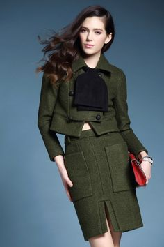 Material:Wool Color:Green Size: S/M/L