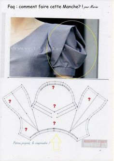 Best 9 Sewing Blouse Pattern Costura New Ideas – SkillOfKing. Sleeves Designs For Dresses, Sleeve Designs, Blouse Designs, Dress Sewing Patterns, Clothing Patterns, Sewing Sleeves, Couture Sewing, Fashion Sewing, Sewing Techniques