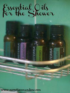 essential oils for the shower | www.morethanmundane.com
