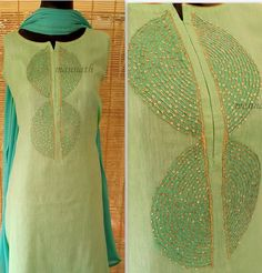 We are manufacturers of designer outfits 8968922443 Sizes available S to Shipping worldwide✈ For booking WhatsApp or call at Embroidery On Kurtis, Kurti Embroidery Design, Embroidery Suits, Hand Embroidery, Embroidery Patterns, Salwar Pattern, Kurti Patterns, Dress Patterns, Sewing Patterns