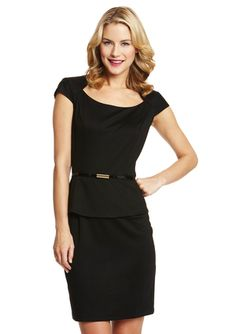 Can't go wrong with classic black & pretty peplum!