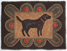 Early Style Primitive Handmade Hooked Rug ~ Good Old Dog ~ Free Shipping #NaivePrimitive #maggiesfarm1846