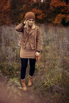 Fall Fashion Look with skirt, boots and fake leather jacket by Christina Key - Cool Outfit Female, Girl