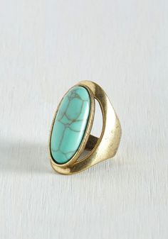 Now That's the Free Spirit! Ring. Show youve got the right attitude toward accessorizing by flaunting this oversized ring with everyday ensembles. #gold #modcloth
