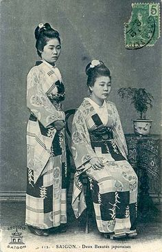 Karayuki-san in Saigon Vietnam, Travel Abroad, Old Pictures, Southeast Asia, Photo S, 19th Century, Sunrise, Africa, Japanese