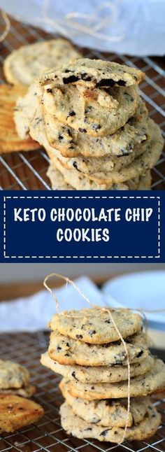 Sugar free, gluten free, low carb Chocolate chip cookies!! These are soft on the inside and crispy on edges! So good! KETO FRIENDLY!