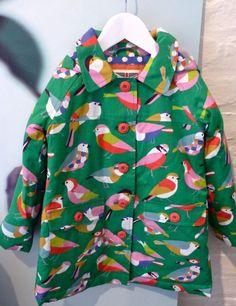 Fab bird print rainjacket for country inspired kidswear at Mini Boden fall 2014