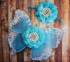 Mystical Waters Turquoise Blue Butterfly Wing by MySweetPeaCouture, $24.95