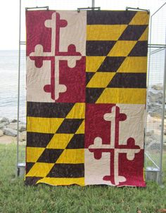 Maryland State Flag Quilt