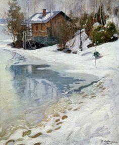 """""""Kevättalvi (Late Winter)"""" c.1909 - Pekka Halonen (Finnish)"""