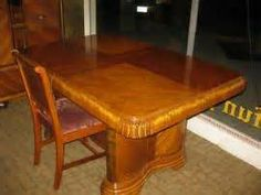 antique art deco waterfall dining room table