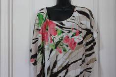 222339230d8 Cato Top Cinch Botton Plus Size 22 24 Floral Pink Green Brown  Cato