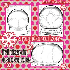 Valerie King Inspired: Snowglobe Graphic Organizers are BACK!