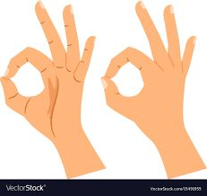 Okay gesture agree or perfect symbol Royalty Free Vector Ok Hand Sign, Picture Mix, Vector Free, Design Inspiration, Symbols, Signs, Voting System, Drawings, Illustration