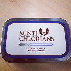 Minti-Chlorians. Freshen your breath and feel the force! Too bad these were available exclusively for Celebration VI.