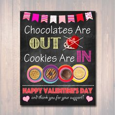 Set of 3 Valentine's Day Cookie Booth Signs by TidyLadyPrintables Girl Scout Cookie Meme, Girl Scout Cookie Sales, Brownie Girl Scouts, Girl Scout Cookies, Valentines Day Cookies, Happy Valentines Day, Valentine Gifts, Scout Mom, Daisy Girl Scouts