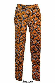 African wax Print pant, pencil summer high fashion on Etsy ~Latest African Fashion African Inspired Fashion, African Print Fashion, Africa Fashion, Ethnic Fashion, Look Fashion, High Fashion, Fashion Design, African Print Pants, African Print Dresses