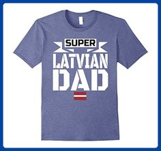 Mens Storecastle: Super Latvian Dad Father's Day Gift T-Shirt XL Heather Blue - Holiday and seasonal shirts (*Amazon Partner-Link)