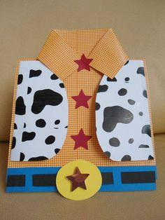 Toy story-handmade invitation