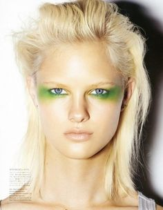fashion, make-up, eyes, eyeshadow, 1980s, 80s, glam, green