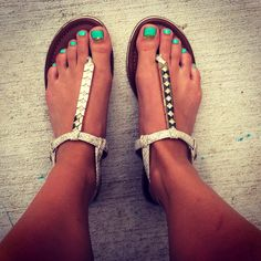 Love my new turquoise and gold pedicure!