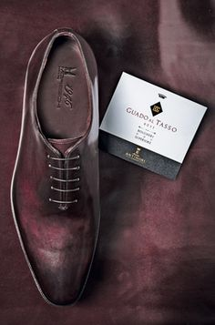 75108ae96c4 A limited-edition pair of Oxfords in wine-dyed leather Oxfords