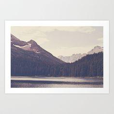 "Society6 - Morning Mountain Lake Art Print by Kurt Rahn - $32 for 28"" x 20"""