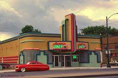 art deco diners | Art Deco Architecture: Frogtown Diner, St. Paul, Minnesota...