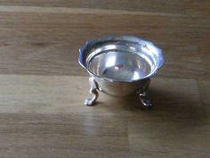 silver three legged egg cup