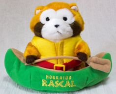 Rascal the Raccoon w/ Canoe Hokkaido Limited Plush Doll Figure JAPAN ANIME MANGA
