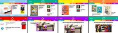 Website: Door veel opvallende kleuren, een speels en luchtig font en grafische elementen te gebruiken zit ik in de stijl van Tom Hautekiet. De thema's en artikels worden duidelijk door het gebruik van een specifieke kleur.