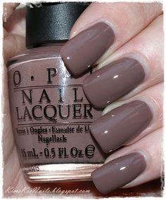 Nails gel, we adopt or not? - My Nails Opi Nail Polish Colors, Fall Nail Colors, Opi Nails, Gel Polish, Shellac Nails Fall, Taupe Nails, Brown Nails, Nail Lacquer, American Nails