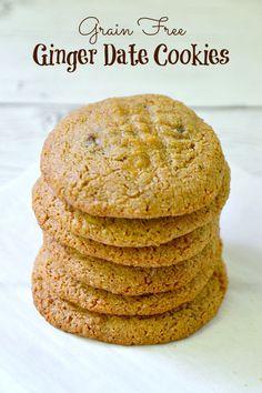 Ginger Date Cookies {Grain Free, Dairy Free}