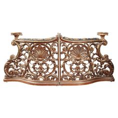 Pair of 19th Century Italian Gold Leaf Balustrades 6800   From a unique collection of antique and modern balustrades and fixtures at https://www.1stdibs.com/furniture/building-garden/balustrades-fixtures/