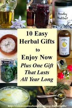 10 Easy Herbal Gifts to Enjoy Now, Plus One Gift That Lasts All Year Long - Win a scholarship for the HANE Introductory Herbal Course