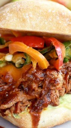 Cheesy Crockpot Cajun Pulled Pork with Southwest Pepper-Corn Slaw
